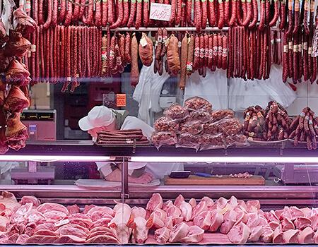 Витрины с мясом