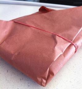 Мясо, упакованное в бумагу